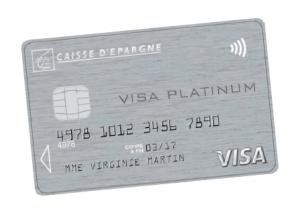 Plafonds des cartes bancaires à la Caisse d'Epargne